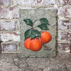 VINTAGE Orange Tree Branch Wall Decor Decoration